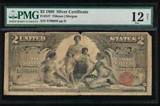AC Fr 247 1896 $2 Silver Certificate EDUCATIONAL PMG 12 NET