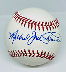 Phillies Mike Jack Schmidt Signed Baseball Autographed MLB and Fanatics Hologram