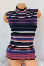 ECI NEW YORK (M) Tank Top Stretch Rib Knit Pullover Mock Turtleneck  MSRP $60.00