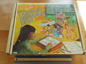 Old Retro 1974 LAKESIDE BARBIE Light Up Drawing Desk Colored Pencils Lake Side