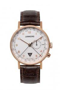 JUNKERS 6736-4 Eisvogel F13 Herren Armband Leder Armbanduhr Uhren