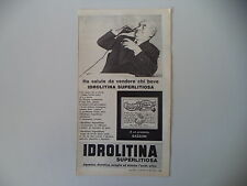 advertising Pubblicità 1961 IDROLITINA GAZZONI