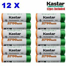 Kastar AA 12-Pack Ni-MH 2700mAh Super High-Capacity Rechargeable Batteries