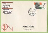 G.B. 19659 Gandhi Centenary Post Office First Day Cover, Bureau