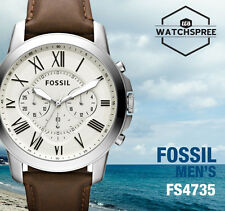 Fossil Grant Chronograph Men's Leather Watch FS4735