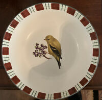 """Lenox WINTER GREETINGS EVERYDAY GOLDFINCH 28 oz Soup Cereal 7"""" Bowl All Purpose"""