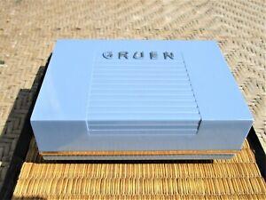 Vintage Gruen Precision Watch Blue Presentation Box