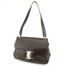 Salvatore Ferragamo Shoulder bag Vera Brown leather Woman Authentic Used  G1332 12d9021ba513f