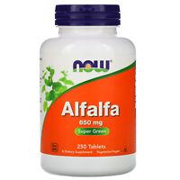 Now Foods  Alfalfa  650 mg  250 Tablets