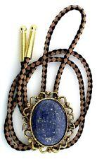 Natural Oval 40x30 Lapis Lazuli Cab Cabochon Gemstone Bolo Tie Cord Tips EPBT85N