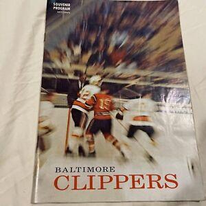 Vintage Baltimore Clippers Hockey Program 03/11/1969 vs. Cleveland Barons AHL