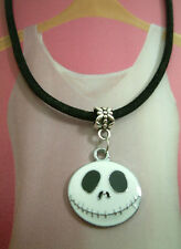 A  Girl's White The Nightmare Before Christmas Jack Pendant, Necklace. Kitsch,