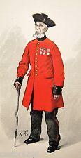 Paul RENOUARD grav. couleurs Paris Illustré 1886 VIEUX MILITAIRE ANGLAIS