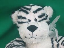BLACK WHITE ALBINO TIGER SOFTBALL BODY HAND PUPPET PLUSH STUFFED ANIMAL FRIEND