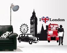 00016 Wall Stickers Londra 130x100 cm Adesivi Murali Design London decorazione