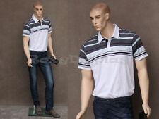Male Realistic Fiberglass Molded Hair Manikin Mannequin Display Dress Form #WEN1