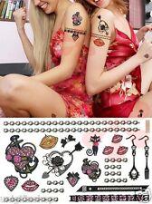 Jewelry Fashion Temporary Tattoos Art Sticker - Pink Temporary Tattoo (Set of 2)