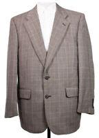 Vintage Burberry Mens 40R Wool Glen Plaid Blazer Sports Coat Suit Jacket