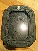 """Vintage WEDGWOOD BLACK Basalt JASPERWARE Unused 5.5"""" x 7"""" Cupid FRAME Brand New!"""