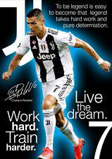 Cristiano Ronaldo Poster #3009 - Juventus Motivational - A3 420mm x 297mm