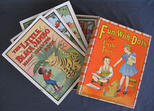 VINTAGE 1940 FUN WITH DOTS FOR LITTLE TOTS ~ 4 BOOK SET IN BOX