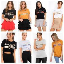 FASHION Tops T-shirt Short Sleeve t-shirt Cotton Women Bonjour Libertie top