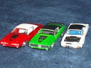#55 SET OF 3 1969 PLYMOUTH HEMI ROAD RUNNER 1971 DODGE SUPERBEE (2) 1/64