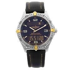 Breitling Aerospace Titanium Grey Dial Analog Digital  Quartz Mens Watch F56059