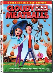 Cloudy with a Chance of Meatballs DVD Authentic Cartoon Children Film Brand New