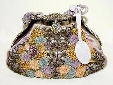 Italy Lavender Silk & Floral Embroidery Small Purse by Valentino Garavani (LeP)