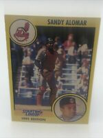 1991  SANDY ALOMAR - Kenner Starting Lineup Card - CLEVELAND INDIANS