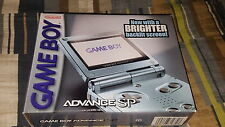 Nintendo Game Boy Advance SP Pearl Blue Handheld System New Factory Sealed GBA