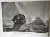 -GRAVURES et CARTES 1825 2/2 vol. – VOLNEY: Voyage en Égypte et en Syrie