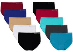 Damen Slips Microfaser 5 | 10 | 20 Stück Unterwäsche Slip Schlüpfer Mehrfarbig