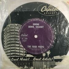 """THE FOUR PREPS - Swing Down, Chariot - 45rpm 7"""" Vinyl Single Record (Excellent)"""