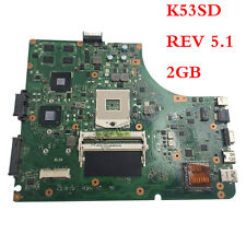 For Asus K53SD X53S Laptop Motherboard REV 5.1  2GB GT610M 60-N3EMB1200-D04