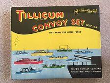 Rare Vintage Tillicum Milton Bradley Convoy Set T104 Wood Toy Ships Boats