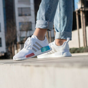 ADIDAS NMD R1 BOOST WHITE WOMENS SHOES US 6 FX7074