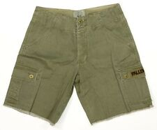 Fallen SURPLUS CARGO Mens 100% Cotton 7 Pocket Shorts Fatigue Green Size 28 NEW