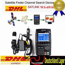 "Profi 3,5"" Satfinder Satlink WS-6916 DVB-S/S2 HD Sat Messgerät DVB LCD Digital"