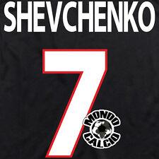 SHEVCHENKO PERSONALIZZAZIONE MILAN THIRD NOME E NUMERO KIT SET NAME 2000-01