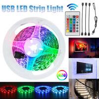 4x50CM LED Strip Lights 5V TV Backlight 5050 RGB Colour changing Remote   /*/