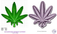 CANNABIS XXX Large Craft Sugarcraft Sculpey Silicone Rubber Mould Mold
