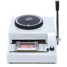 Us 72-Character Manual Stamping Machine Pvc/Id/Credit Card Embosser Code Printer