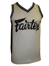 NEW! Fairtex Jersey for Muay Thai Kickboxing, MMA, BJJ, UFC - JS-2 - White Black