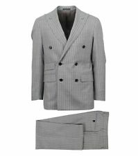 NWT CARUSO Gray Striped Wool Double Breasted Slim/Trim Fit Suit 46/36 R Drop 7