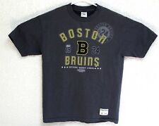 NHL Boston Bruins 1924 Mens Grey Graphic T-Shirt Medium EUC