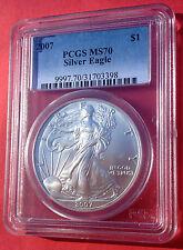 2007 Silver American Eagle PCGS MS70! Perfect  No spots!