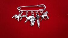 I LOVE MY HORSE KILT SAFETY PIN BROOCH