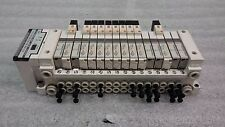 SMC Manifold Serial Unit Model SC w/ Valves. 6) VVQ1000 & 10) VQ1101-5